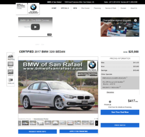 How BMW San Rafael gets internet leads