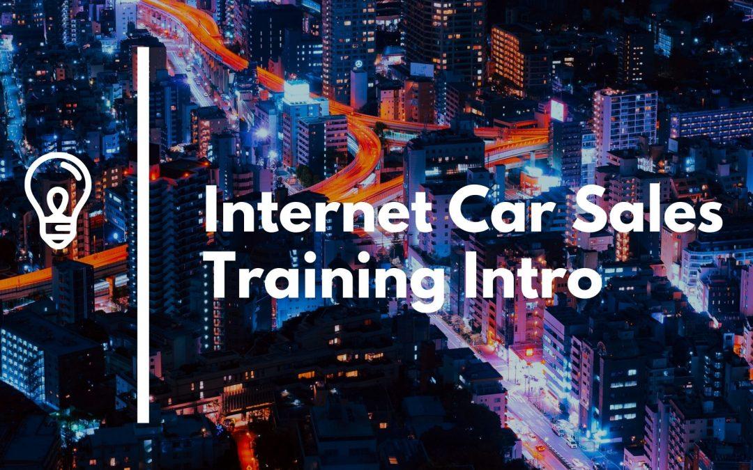 Internet Car Sales Training The Market Car Sales Story