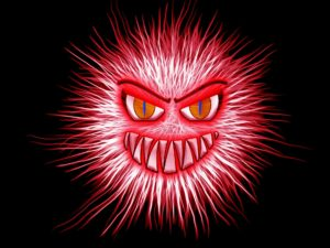 picture of a red virus drawing is not one of the internet car sales tips