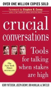 "Car Sales Tips Overcoming Objections includes advice taken from the book ""crucial conversations"""