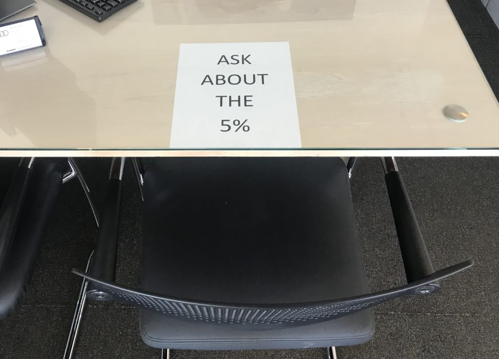 This desk message is one of the ways How To Stay Positive In Sales