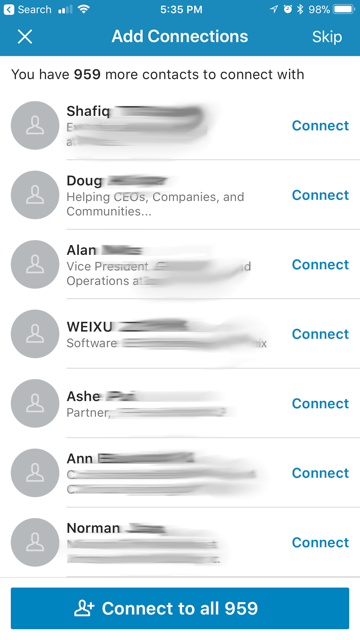 A picture of how linkedin is a great tool for maximizing your car sales referrals