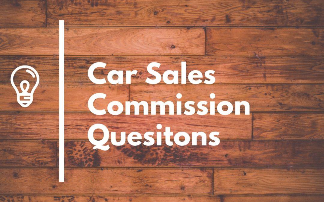 Car Salesman Commission